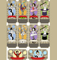 set of circus tickets templates vector image
