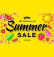 Summer sale template horizontal flat paper banner vector image