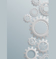 Gears bckground on white background vector image