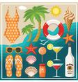Summer beach set vector image vector image