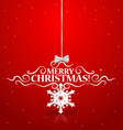 Christmas lettering greetings card vector image