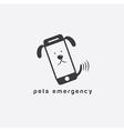 pets emergency concept flat design vector image