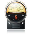 electricity hydro power counter vector image