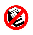 Stop cashier Banned from cash register Frozen vector image