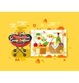 BBQ party design flat vector image