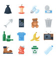 garbage set cartoon vector image