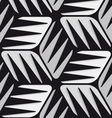 Gray 3d cubes striped with black seamless pattern vector image
