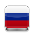 Metal icon of Russian Federation vector image