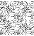 seamless hand draw pattern with ink vector image