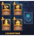 Set spell cards of light school vector image