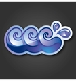 sign three purple and blue waves with drops vector image