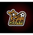 Soccer badge logo template football design vector image