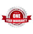 1 year warranty button vector image vector image