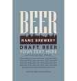 label with draft beer vector image