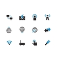 Networking duotone icons on white background vector image