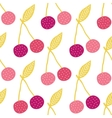 yummy cherries seamless pattern background vector image
