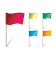 flapping flags vector image vector image