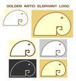 Elephant Logo Based On Golden Ratio Divine vector image