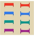 Set of colored bookmarks vector image
