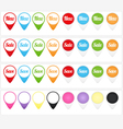 Business sales tags and icons set vector image vector image