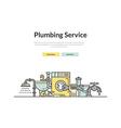 Plumbing Web Page vector image
