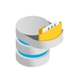 Data import into a database icon vector image vector image