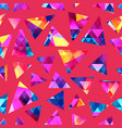 colored crystal seamless pattern vector image