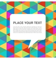 colorful abstract template with speech bubbles vector image