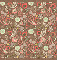 cute graphical oriental paisley pattern with vector image