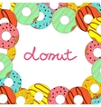donut on white background vector image