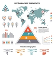 Infographics elements set Pyramid chart world vector image