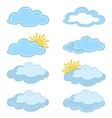 labels clouds and sun vector image