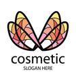 logo in the form of multi colored wings vector image