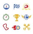 Motor race formula icons set vector image