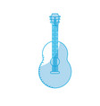 silhouette guitar musical instrument to play music vector image