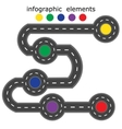 Road infographics Road with five different points vector image
