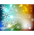 colored christmas background with snowflakes vector image vector image