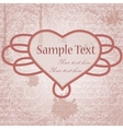 grungy background with heart frame vector image