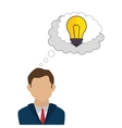 businessman character avatar with idea icon vector image