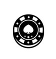 poker chip isolated casino chips for casino games vector image