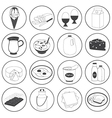 Basic Dairy Products Icons Set vector image vector image