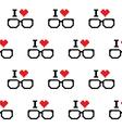 I love geeks glasses seamless pattern vector image