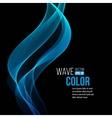 Blue light wave background vector image