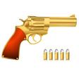 golden revolver vector image