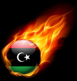 Round glossy icon of libya vector image