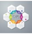 paper infographics hexagons vector image
