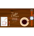 Background With Coffee Cup vector image vector image