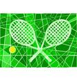 Grass court tennis vector image vector image