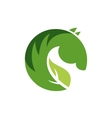 sign or logo green horse vector image
