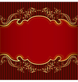 background with golden ornament and red vector image